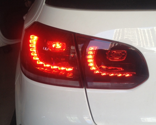 大众高6升级R20LED尾灯